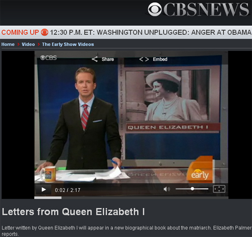 According to CBS, this is Elizabeth I...Wrong