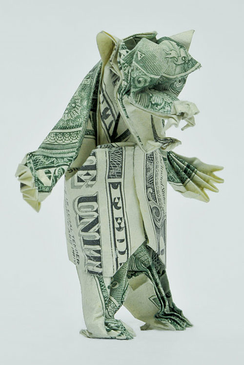 Dollar origami monster